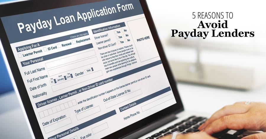 5 Reasons to Avoid Payday Lenders